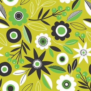 Flower Chain - lime
