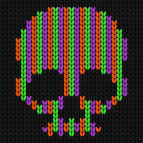 halloween knit scull_1