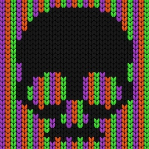 halloween knit scull_2
