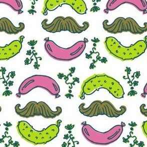 LMorreale-Mustache-Sausage-Pickle