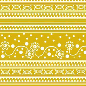 Aztec ZipperTangle Yellow