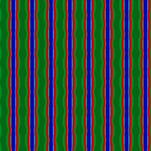 Wobbly Stripe   v1a   -green, red, blue, cyan
