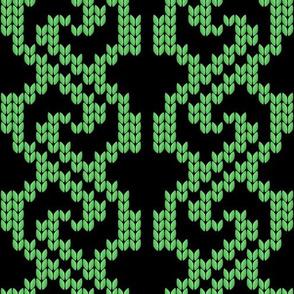 knit pattern_1 green