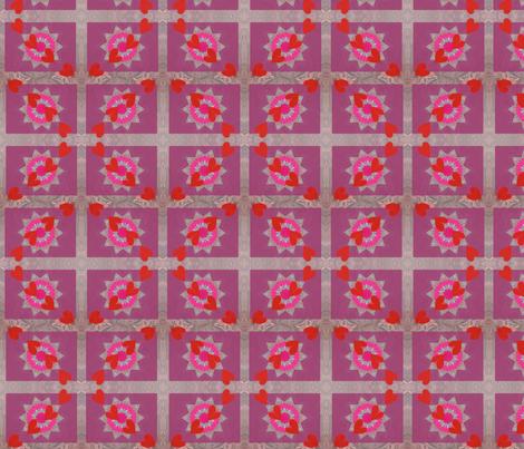 Heart Felt Diamonds fabric by sombrilla on Spoonflower - custom fabric