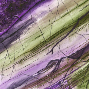 Striations in Eggplant Muted