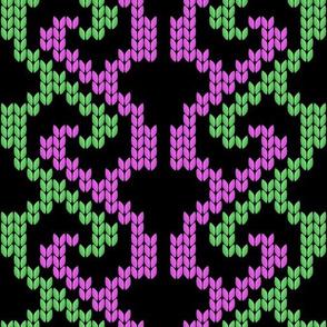 knit pattern_1 pink & green