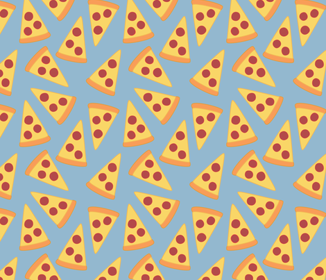 pizza! fabric by castl3t0n on Spoonflower - custom fabric