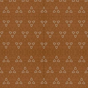 White Heart Triangles on Brown