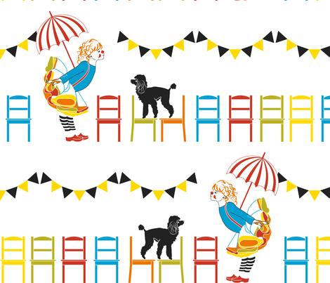 Little Clown -Enlaged version fabric by newmomdesigns on Spoonflower - custom fabric