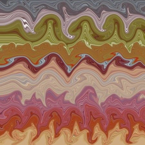 Rocky Bay Liquified Stripes (horizontal)