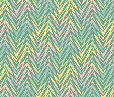 rainbow feather zigzag fabric by weavingmajor on Spoonflower - custom fabric
