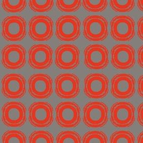 Circle- grey/red