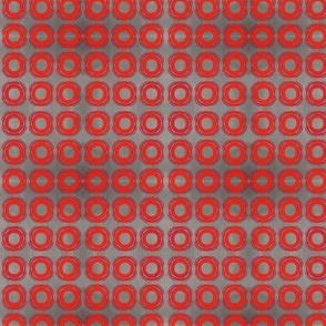 Circle- red/grey