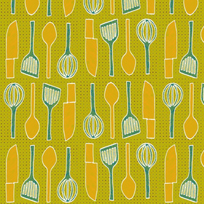 utensils apple green