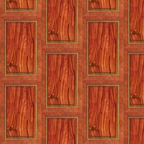 Rosewood Panel ~ Trompe l'Oeil