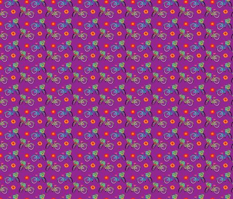 FlowerBike-02 fabric by deesignor on Spoonflower - custom fabric