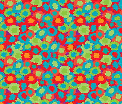FlowerBike-01 fabric by deesignor on Spoonflower - custom fabric