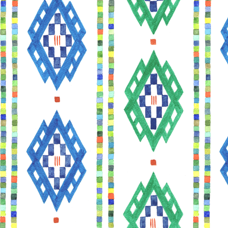 Romanian Diamond Stripe fabric by bumbleb33 on Spoonflower - custom fabric