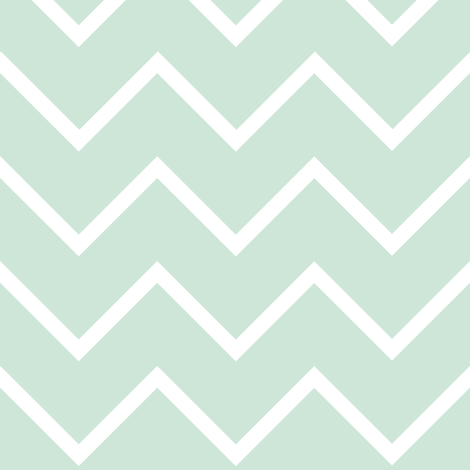 Mint Chevron fabric by littlearrowdesign on Spoonflower - custom fabric