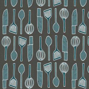 utensils charcoal grey