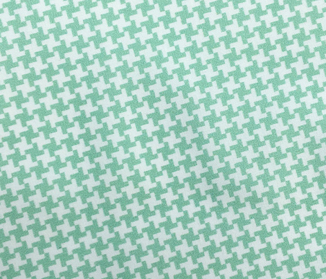 Houndstooth* (Green Stamps) || geometric midcentury modern 60s 1960s sixties mod jadeite pastel