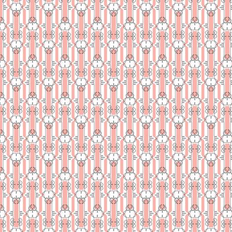 Ellis* (Mona Lisa) || French typography wrought iron New Orleans flourish diamonds pastel fabric by pennycandy on Spoonflower - custom fabric