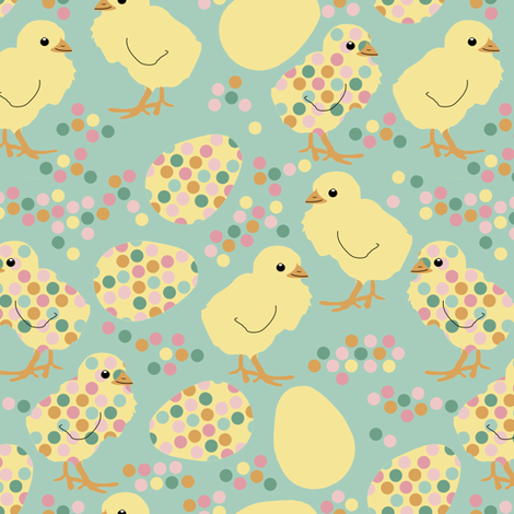 Spring Chickens fabric by eclectic_house on Spoonflower - custom fabric