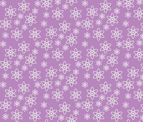Atomic Science (Light Purple) fabric by robyriker on Spoonflower - custom fabric