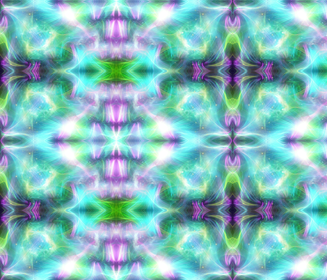 Aurora Blue, Green, Pink fabric by charldia on Spoonflower - custom fabric