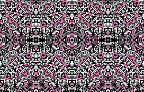 Space station pink fabric whimzwhirled spoonflower for Space station fabric