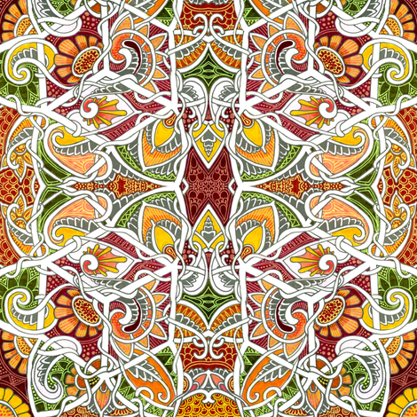 After Jack Planted the Magic Beans fabric by edsel2084 on Spoonflower - custom fabric
