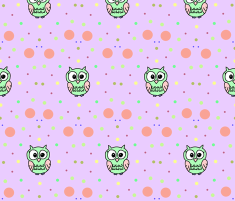 owl_copy fabric by kimi_compassion on Spoonflower - custom fabric