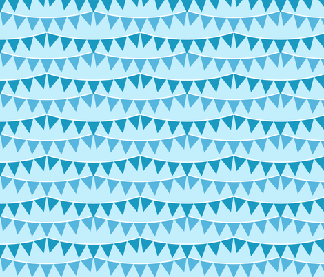 Baby Boy Bunting fabric by robyriker on Spoonflower - custom fabric