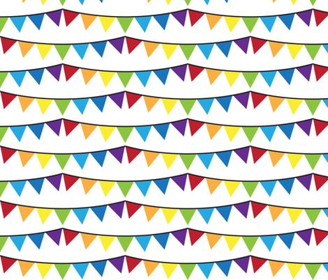 Rainbow Bunting fabric by robyriker on Spoonflower - custom fabric