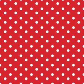 Little dots WHITE on RED