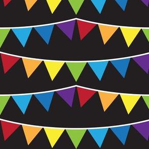 Rainbow Bunting (Black)
