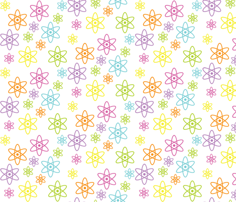 Atomic Science (Rainbow Pastel) fabric by robyriker on Spoonflower - custom fabric