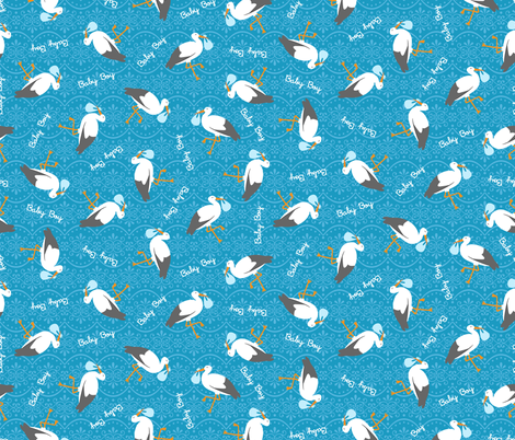 Special Delivery - Baby Boy fabric by robyriker on Spoonflower - custom fabric