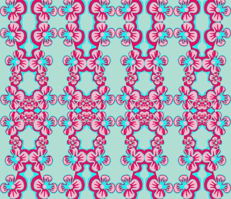 Flower Trellis fabric by robin_rice on Spoonflower - custom fabric