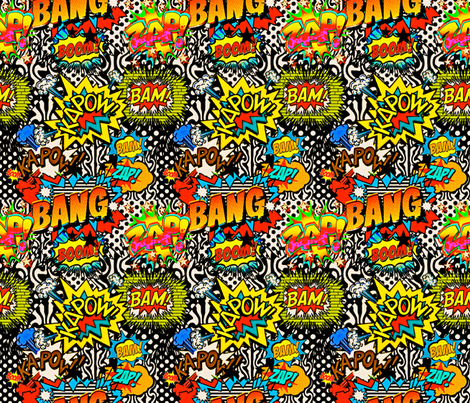 Zap, Bam, Boom fabric by whimzwhirled on Spoonflower - custom fabric