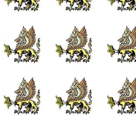 GVGryphon_spaced fabric by mmayer79 on Spoonflower - custom fabric