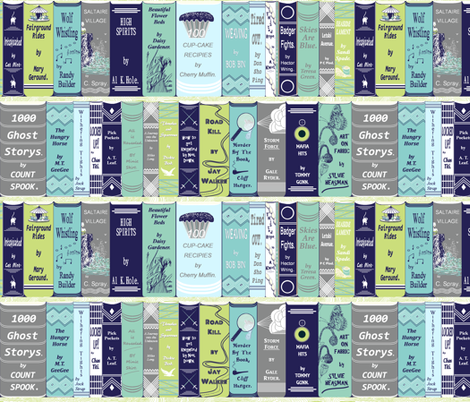 Library Books!! fabric by house_of_heasman on Spoonflower - custom fabric