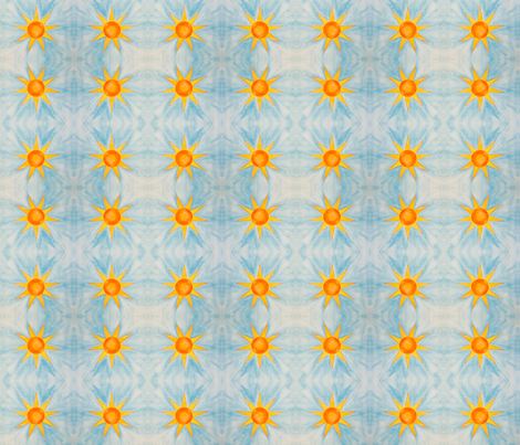 Nine Pointed Star Watercolor fabric by sophiawood on Spoonflower - custom fabric