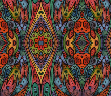 Rainbow Flower Girl Dress fabric by lierre on Spoonflower - custom fabric