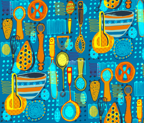 Polka Dot Pantry fabric by slumbermonkey on Spoonflower - custom fabric
