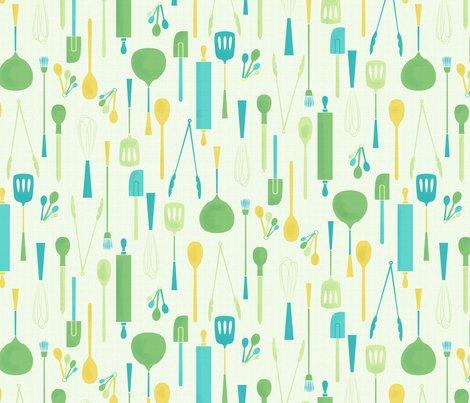 Kitchen Utensils Wallpaper kitchen utensils wallpaper - badger&bee - spoonflower