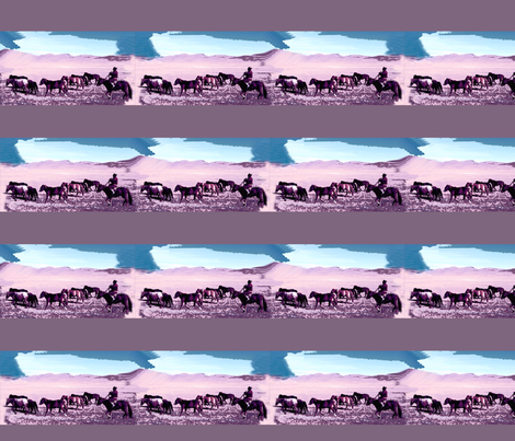 Cowboys in Mongolia fabric by robin_rice on Spoonflower - custom fabric