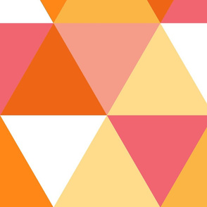 Triangle - girl orange and pink