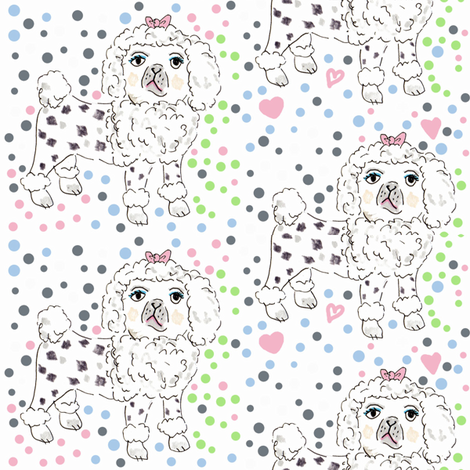 Poodle pattern fabric by jo_chambers on Spoonflower - custom fabric