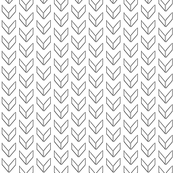 sketched black and white chevron